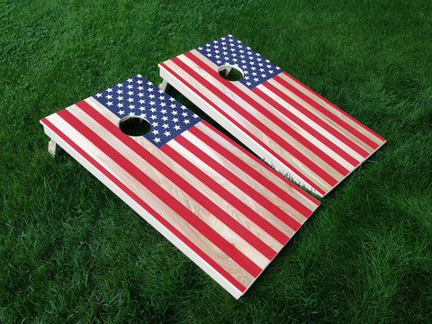 America 05 American Flag Eagle Military Cornhole Wrap Decal Sticker SET OF 2 PRINTS