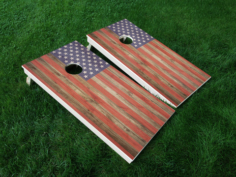 America 04 American Flag Eagle Military Cornhole Wrap Decal Sticker SET OF 2 PRINTS