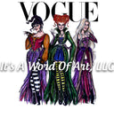 Halloween 45 - Vogue Hocus Pocus Sublimation Transfer Set/Ready To Press Sublimation Transfer/Sublimation Transfer