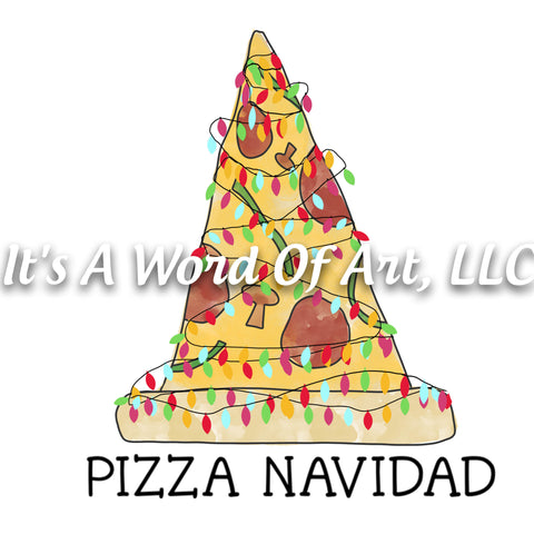Christmas 276- Pizza Navidad Tree - Sublimation Transfer Set/Ready To Press Sublimation Transfer/Sublimation Transfer