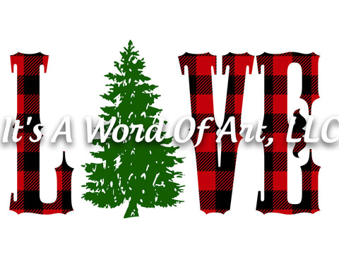 Christmas 147 - Love Christmas Tree Buffalo Plaid - Sublimation Transfer Set/Ready To Press Sublimation Transfer/Sublimation Transfer