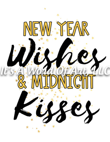 New Years 1 - New Year Wishes & Midnight Kisses 2020 - Sublimation Transfer Set/Ready To Press Sublimation Transfer/Sublimation Transfer