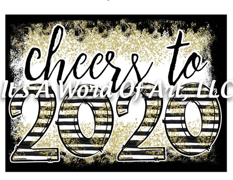 New Years 4 - Cheers to 2020 Stars and Stripes - Sublimation Transfer Set/Ready To Press Sublimation Transfer/Sublimation Transfer