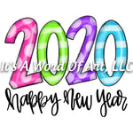 New Years 13 - Happy New Year 2020 - Sublimation Transfer Set/Ready To Press Sublimation Transfer/Sublimation Transfer