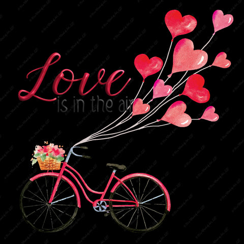 Valentines Day 77 - Love is in the Air Bicycle - Sublimation Transfer Set/Ready To Press Sublimation Transfer/Sublimation Transfer