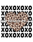 Valentines Day 87 - XO XO XO Repeated Leopard Heart - Sublimation Transfer Set/Ready To Press Sublimation Transfer/Sublimation Transfer