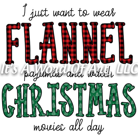 Christmas 244 - Wear Flannel Pajamas Watch Christmas - Sublimation Transfer Set/Ready To Press Sublimation Transfer/Sublimation Transfer
