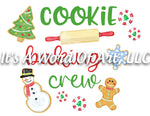 Christmas 242 - Cookie Baking Crew - Sublimation Transfer Set/Ready To Press Sublimation Transfer/Sublimation Transfer