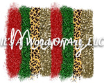 Christmas 215 - Leopard Doodle Letters MERRY Glitter - Sublimation Transfer Set/Ready To Press Sublimation Transfer/Sublimation Transfer