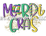 Mardi Gras 3 - Mardi Gras Glitter Confetti - Sublimation Transfer Set/Ready To Press Sublimation Transfer/Sublimation Transfer