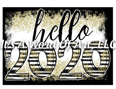 New Years 5 - Hello 2020 Stars and Stripes - Sublimation Transfer Set/Ready To Press Sublimation Transfer/Sublimation Transfer