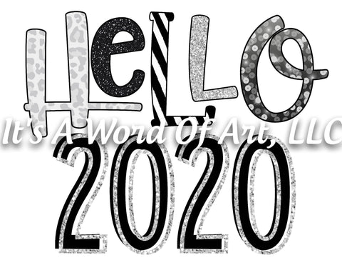 New Years 6 - Hello 2020 Stars and Stripes - Sublimation Transfer Set/Ready To Press Sublimation Transfer/Sublimation Transfer