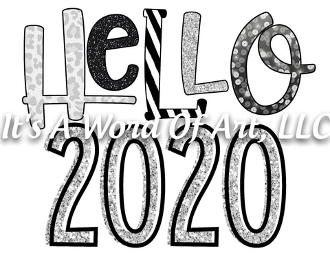 New Years 7 - Hello 2020 Stars and Stripes - Sublimation Transfer Set/Ready To Press Sublimation Transfer/Sublimation Transfer