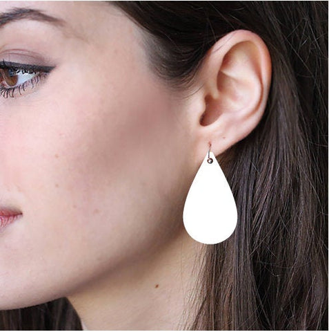 Sublimation Earring Blank Acrylic - Tear Drop Shape -Sublimatable Acrylic White Earrings - No Hardware Included - Ready to Press