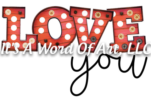 Valentines Day 46 - Love you Leopard Wood - Sublimation Transfer Set/Ready To Press Sublimation Transfer/Sublimation Transfer