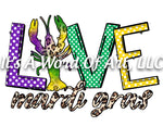 Mardi Gras 2 - LOVE Mardi Gras Lobster - Sublimation Transfer Set/Ready To Press Sublimation Transfer/Sublimation Transfer
