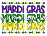 Mardi Gras 4 - Mardi Gras Mardi Gras Mardi Gras Colors - Sublimation Transfer Set/Ready To Press Sublimation Transfer/Sublimation Transfer