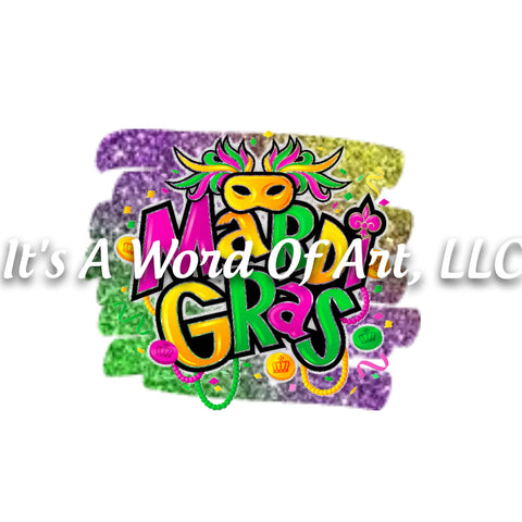Mardi Gras 18 - Mardi Gras Graffiti Style Spray Paint - Sublimation Transfer Set/Ready To Press Sublimation Transfer/Sublimation Transfer