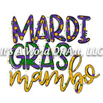 Mardi Gras 24 - Mardi Gras Mambo Doodle Letters - Sublimation Transfer Set/Ready To Press Sublimation Transfer/Sublimation Transfer