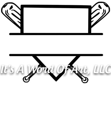 Baseball 10 - Baseball Home Plate Monogram - Sublimation Transfer Set/Ready To Press Sublimation Transfer/Sublimation Transfer