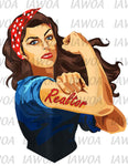 Rosie Riveter 21 - Realtor Frontline Workers - Sublimation Transfer Set/Ready To Press Sublimation Transfer