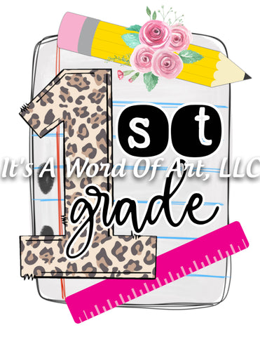 Back to School 23 - First 1st Grade Return to School - Sublimation Transfer Set/Ready To Press Sublimation Transfer/Sublimation Transfer
