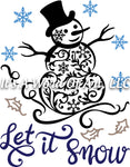 Christmas 287 - Let it Snow Snowman Snowflake - Sublimation Transfer Set/Ready To Press Sublimation Transfer/Sublimation Transfer