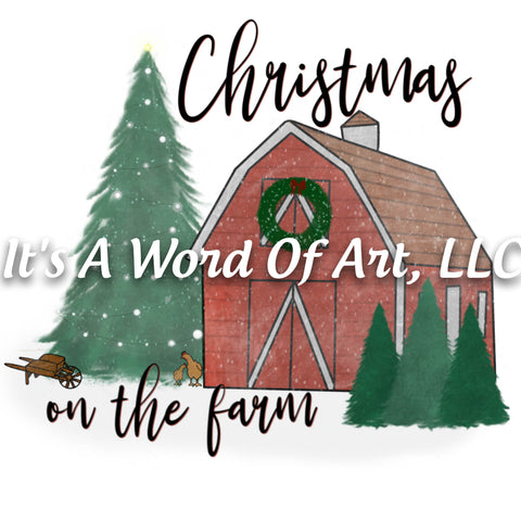 Christmas 318 - Christmas on the Farm Scenic Christmas - Sublimation Transfer Set/Ready To Press Sublimation Transfer/Sublimation Transfer