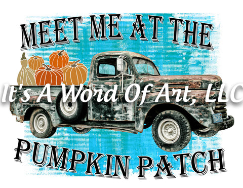 Fall 15 - Meet Me at the Pumpkin Patch Autumn Pumpkin Leaves - Sublimation Transfer Set/Ready To Press Sublimation Transfer Sub Transfer