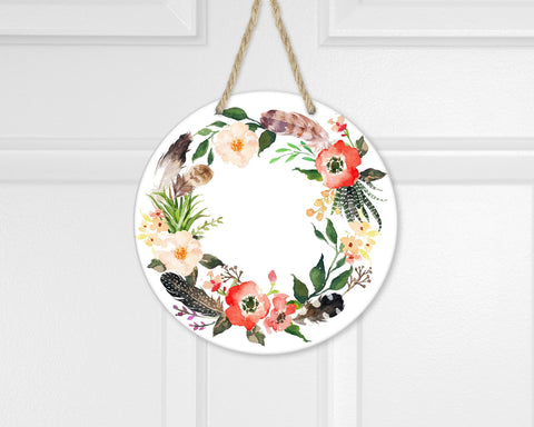 "Sublimation Round Door Hanger Blanks - 12"" or 15"" Round Sublimatable Door Hanger- Hole Pre-Drilled - Ready to Press - Great easy gift!"