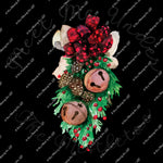 Christmas 323 - Meet me Under the Mistletoe Kiss me Jingle Bell  - Sublimation Transfer Set/Ready To Press Sublimation Transfer