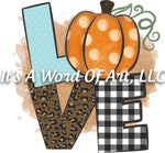 Fall 37 - LOVE Plaid Pumpkin Leopard Leaves Leaves Autumn - Sublimation Transfer Set/Ready To Press Sublimation Transfer Sub Transfer