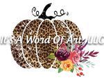 Fall 55 - Pumpkin Leopard Print Flower Autumn - Sublimation Transfer Set/Ready To Press Sublimation Transfer Sub Transfer