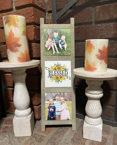 Sublimation Photo Ladder Tiles Refill Set - Set of 3 MDF Tiles -  Ready to Press - Great easy gift!