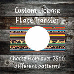 Enter Your Own License Plate Transfers- Sublimation Transfer for License Plate- Customized License Plate