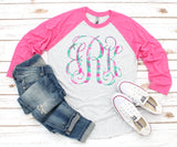 Pattern Monogram Sublimation Transfers