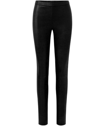 Plain Legging with Zip at Top - Skind Legging - Sort - Depeche