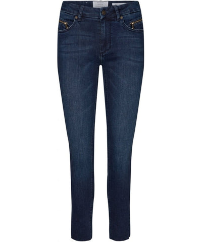 Naomi Cropped Jeans Wash Lazise - Jeans - Denim blue - Pieszak