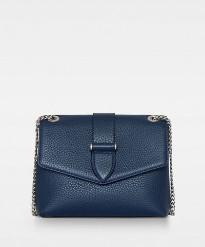 Maria Medium Chain Bag - Taske - Kæderem - Navy - Decadent Copenhagen