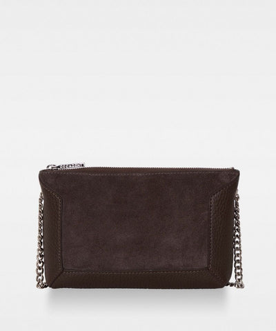 Anna - Small Shoulder Bag - Taske - Mocca - Ruskind - Decadent Copenhagen