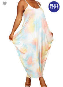 "PLUS SIZE ONLY "" Cotton Candy"" Maxi Balloon Dress"