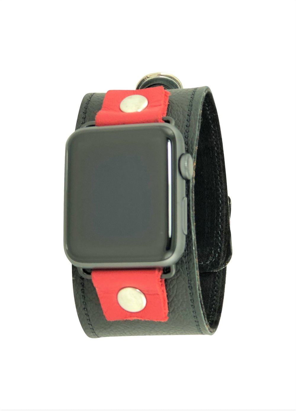 NAN Apple Watch Band - Black & Red