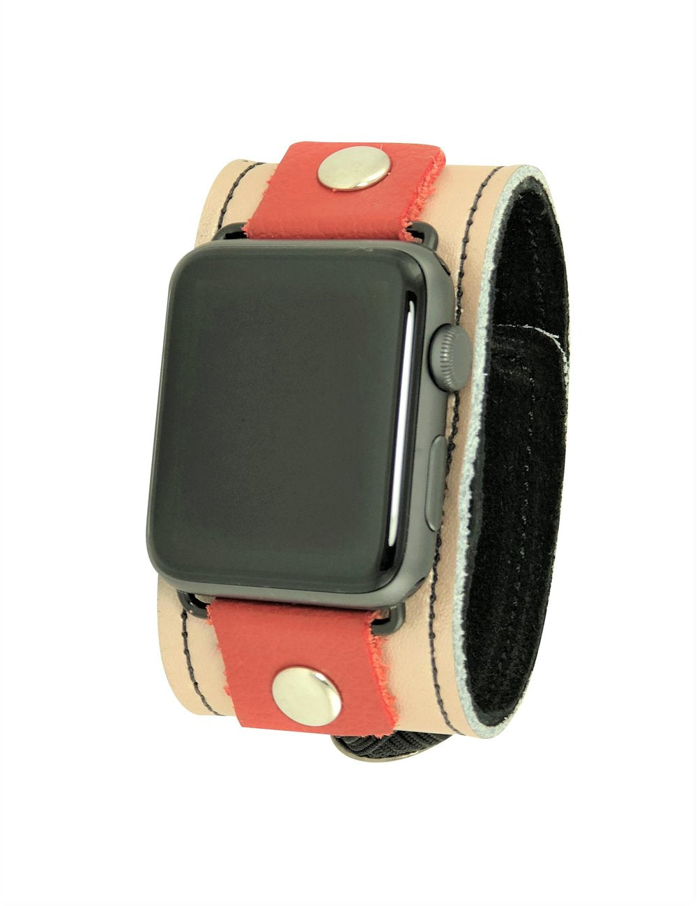 NAN Smart Watch Band - Tan & Red