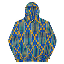Load image into Gallery viewer, Limited Edition Blue Kente Hoodie