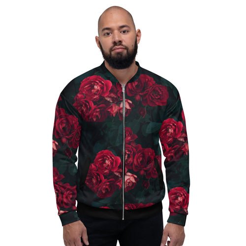 Limited Edition Designer Dozen of Roses Bomber Jacket