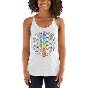 Flower of Life Chakra Women's Racerback Tank