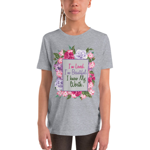 Girls Youth Short Sleeve Affirmation T-Shirt