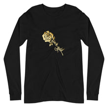 Load image into Gallery viewer, Ladies Gold Rose Long Sleeve T