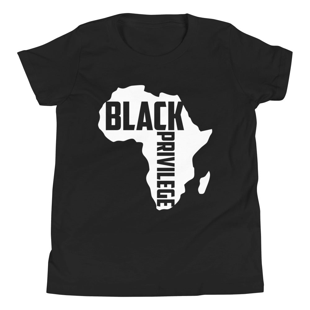 Youth Short Sleeve Black Privilege Signature T-Shirt