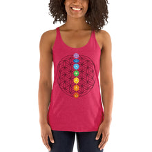 Load image into Gallery viewer, Flower of Life Chakra Women's Racerback Tank